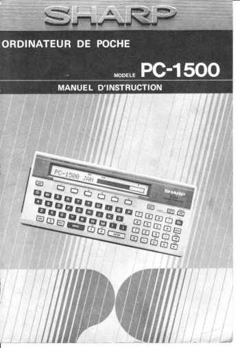 PC-1500 french user guide