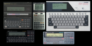 Casio pocket computers and calculators