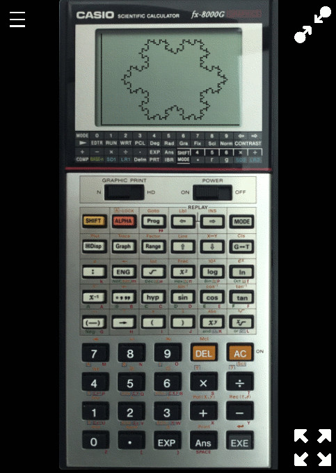 The Casio fx-8000g